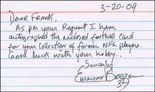 EMERSON BOOZER - AUTOGRAPH LETTER SIGNED 03/20/2009