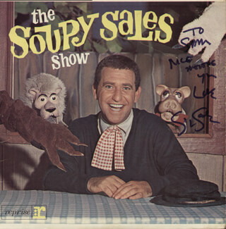 Autographs: SOUPY SALES - INSCRIBED RECORD ALBUM COVER SIGNED