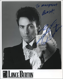 LANCE BURTON - INSCRIBED PRINTED PHOTOGRAPH SIGNED IN INK
