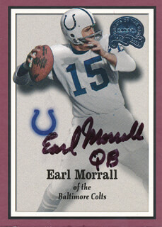 EARL MORRALL - TRADING/SPORTS CARD SIGNED