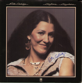 RITA COOLIDGE - RECORD ALBUM COVER SIGNED