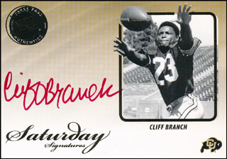 CLIFF BRANCH - TRADING/SPORTS CARD SIGNED