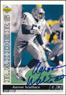 AARON WALLACE - TRADING/SPORTS CARD SIGNED