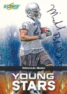 MICHAEL BUSH - TRADING/SPORTS CARD SIGNED