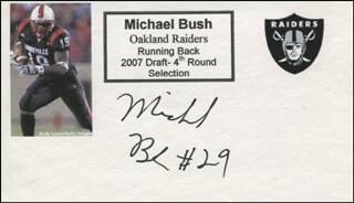 MICHAEL BUSH - PRINTED CARD SIGNED IN INK