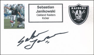 SEBASTIAN JANIKOWSKI - PRINTED CARD SIGNED IN INK