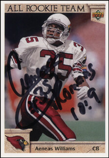 Autographs: AENEAS WILLIAMS - TRADING/SPORTS CARD SIGNED