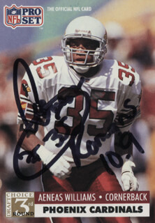AENEAS WILLIAMS - TRADING/SPORTS CARD SIGNED