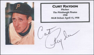 CURT RAYDON - PRINTED CARD SIGNED IN INK