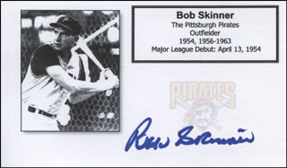 BOB SKINNER - PRINTED CARD SIGNED IN INK