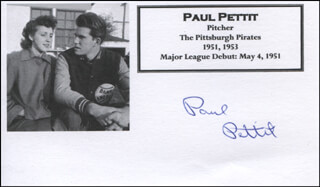 PAUL PETTIT - PRINTED CARD SIGNED IN INK