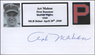 ART MAHAN - PRINTED CARD SIGNED IN INK
