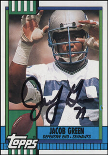 JACOB GREEN - TRADING/SPORTS CARD SIGNED