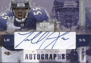 TERRELL SUGGS - TRADING/SPORTS CARD SIGNED