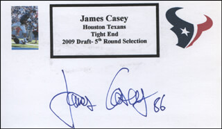 JAMES CASEY - PRINTED CARD SIGNED IN INK