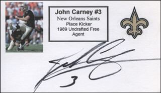 JOHN CARNEY - PRINTED CARD SIGNED IN INK