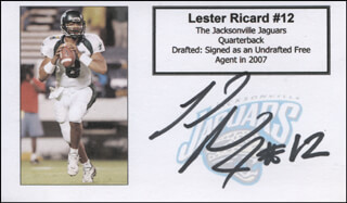 LESTER RICARD - PRINTED CARD SIGNED IN INK
