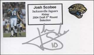 JOSH SCOBEE - PRINTED CARD SIGNED IN INK