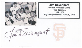 JIM PEANUT DAVENPORT - PRINTED CARD SIGNED IN INK