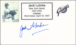 JACK LUCKY LOHRKE - PRINTED CARD SIGNED IN INK