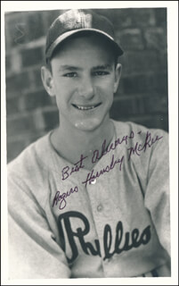 ROGERS HORNSBY MCKEE - AUTOGRAPHED SIGNED PHOTOGRAPH