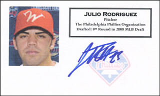 JULIO RODRIGUEZ - PRINTED CARD SIGNED IN INK