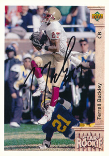 TERRELL BUCKLEY - TRADING/SPORTS CARD SIGNED