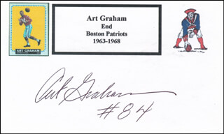 ART GRAHAM - PRINTED CARD SIGNED IN INK