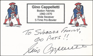 GINO CAPPELLETTI - AUTOGRAPH NOTE SIGNED