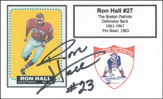 RON HALL - PRINTED CARD SIGNED IN INK