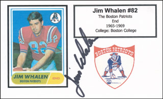 JIM WHALEN - PRINTED CARD SIGNED IN INK
