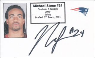 MICHAEL STONE - PRINTED CARD SIGNED IN INK