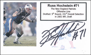 RUSS HOCHSTEIN - PRINTED CARD SIGNED IN INK