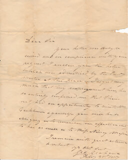 GEORGE GRAHAM - AUTOGRAPH LETTER DOUBLE SIGNED 01/31/1817