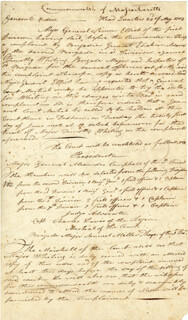 Autographs: ADJUTANT GENERAL WILLIAM DONNISON - MANUSCRIPT DOCUMENT SIGNED 05/23/1803
