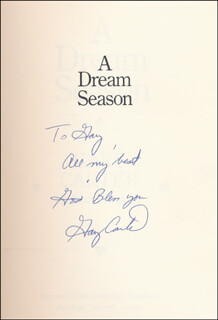 GARY CARTER - INSCRIBED BOOK SIGNED