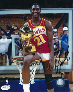 DOMINIQUE WILKINS - AUTOGRAPHED SIGNED PHOTOGRAPH