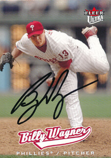 BILLY WAGNER - TRADING/SPORTS CARD SIGNED