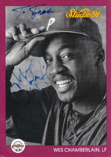 WES CHAMBERLAIN - INSCRIBED TRADING CARD SIGNED