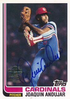 JOAQUIN ANDUJAR - TRADING/SPORTS CARD SIGNED