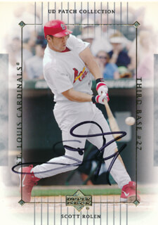 SCOTT ROLEN - TRADING/SPORTS CARD SIGNED
