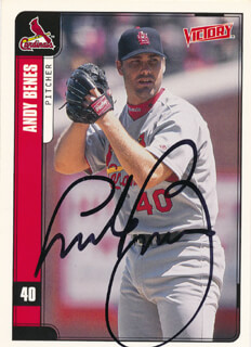 ANDY BENES - TRADING/SPORTS CARD SIGNED