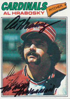 AL THE MAD HUNGARIAN HRABOSKY - TRADING/SPORTS CARD SIGNED