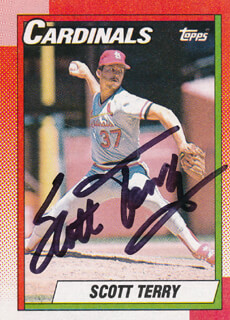 SCOTT TERRY - TRADING/SPORTS CARD SIGNED