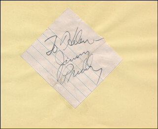 JIMMY PRUDY - INSCRIBED SIGNATURE