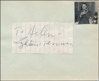 GLENN MILLER BAND (PAUL LIGHTIN' TANNER) - INSCRIBED SIGNATURE