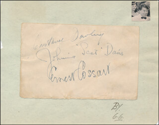 ERNEST COSSART - AUTOGRAPH CO-SIGNED BY: JOHNNIE SCAT DAVIS, CONSTANCE DOWLING