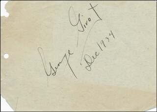 GEORGE GIVOT - AUTOGRAPH 12/1934