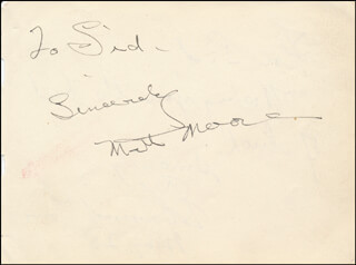 MATT MOORE - AUTOGRAPH NOTE SIGNED CO-SIGNED BY: EDMUND LOWE