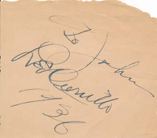 LEO PANCHO CARRILLO - INSCRIBED SIGNATURE 1936